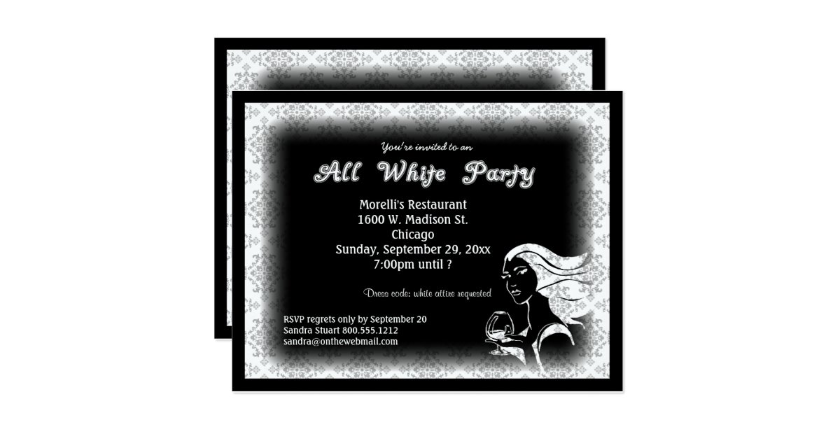 All White Party Invitations – gangcraft.net