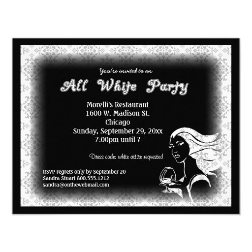 Black And White Party Invitation Wording with nice invitation sample