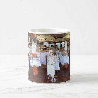 All white fashion shop coffee mug