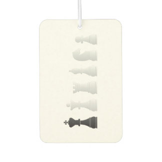 All white one black chess pieces air freshener