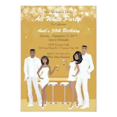 All White Attire Theme Party Invitation – All White Party Invitation