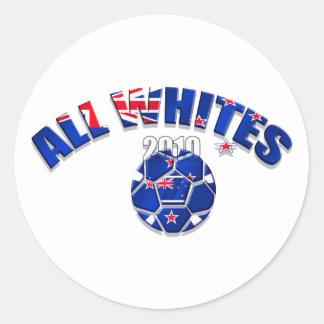 All Whites 2010 graphic artwork logo Classic Round Sticker
