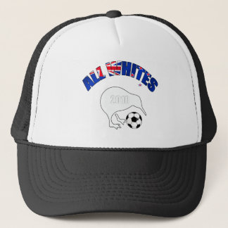 All Whites Kiwi Soccer Football fans gifts Trucker Hat