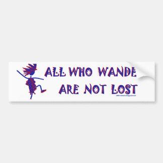 All Who Wander Bumpersticker Bumper Sticker