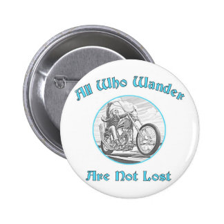 All who wander pinback button