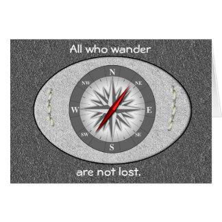 All who wander card