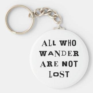 All Who Wander Basic Round Button Keychain