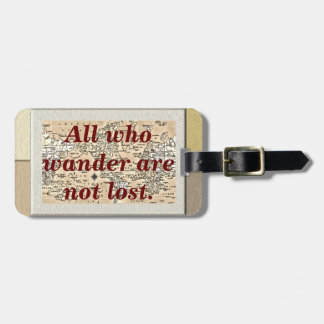 All who wander - luggage tag