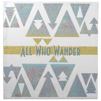 All Who Wander Napkin