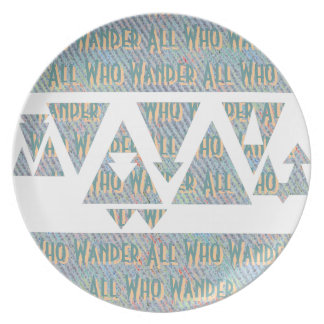 All Who Wander Plate