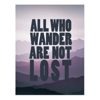All Who Wander postcard