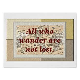 All who wander - poster