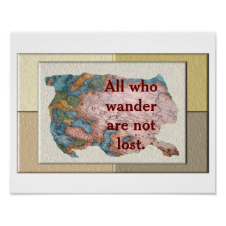 All who wander - poster print