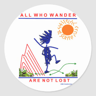 All Who Wander Round Stickers