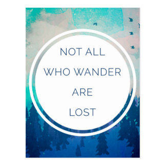 All Who Wander Travel Quote Postcard