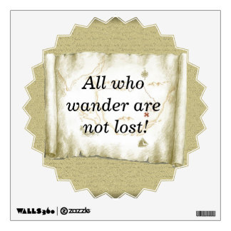 All who wander wall decal