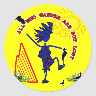 All Who Wander Whimsy Classic Round Sticker