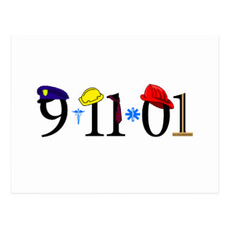 All who were lost 9-11-01 postcard