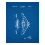 All-wing Airplane Patent - Blueprint Poster