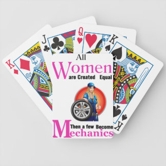 All Women Are Created Equal Then a Few Become Mech Bicycle Playing Cards