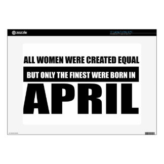 All women were created equal April designs Laptop Skin