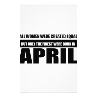 All women were created equal April designs Stationery