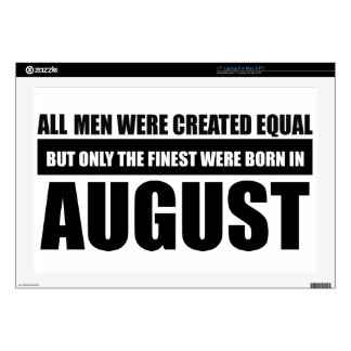 "All women were created equal august designs 17"" laptop decal"