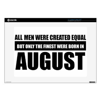 "All women were created equal august designs decal for 15"" laptop"