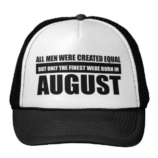 All women were created equal august designs trucker hat
