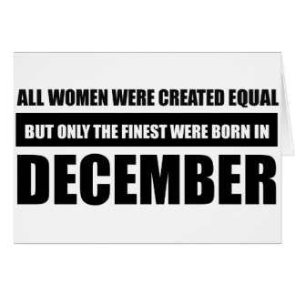 All women were created equal December designs Card