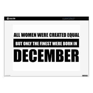All women were created equal December designs Laptop Decal