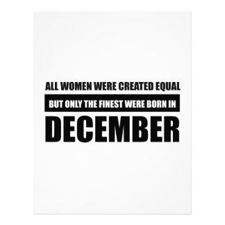 All women were created equal December designs Letterhead