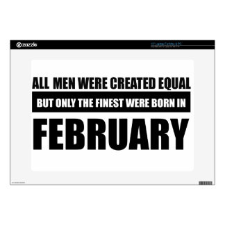 "All women were created equal february designs 15"" laptop decal"