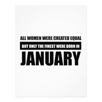 All women were created equal January designs Letterhead
