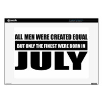 "All women were created equal July designs 15"" Laptop Skin"