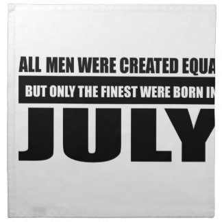 All women were created equal July designs Cloth Napkin
