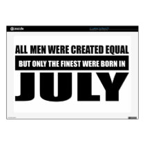 All women were created equal July designs Decal For Laptop