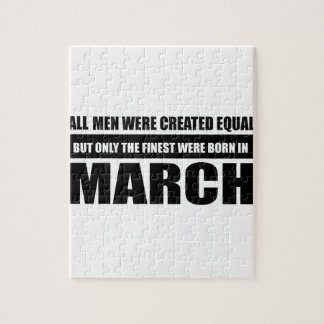 All women were created equal March designs Jigsaw Puzzle