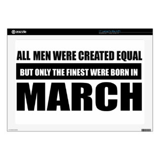 All women were created equal March designs Skins For Laptops