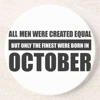 All women were created equal october  designs coaster