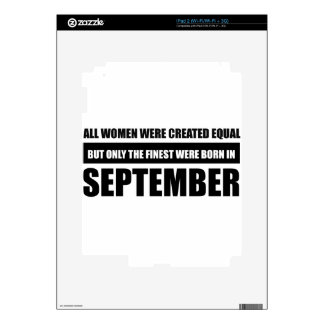 All women were created equal september  designs iPad 2 skins