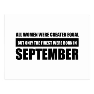 All women were created equal september  designs postcard