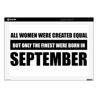 All women were created equal september  designs skin for laptop