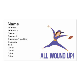 All Wound Up Business Card