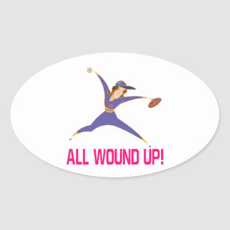 All Wound Up Oval Sticker