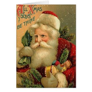 All Xmas Joys Be Thine Greeting Card