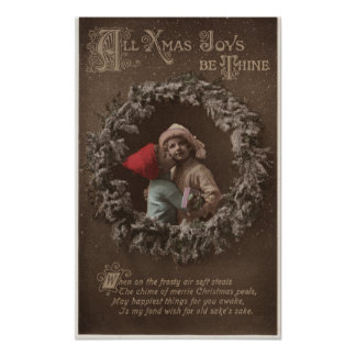 All XMAS Joys Be ThineLittle Kids Kissing Poster
