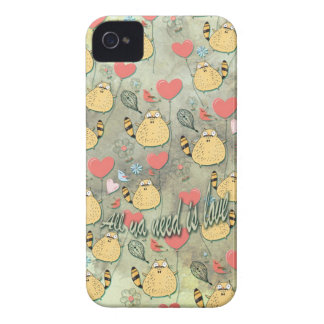 All ya need is love. by Scared E. Cat. iPhone 4 Case