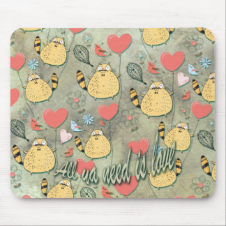 All ya need is love. by Scared E. Cat. Mouse Pad