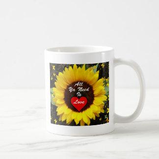 All Ya Need Is Love Summer Sunflower Mug